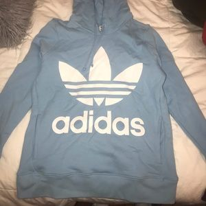 Women's adidas light blue hoodie